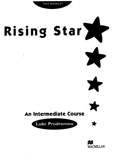 Rising Star Intermediate Test Booklet with Answers