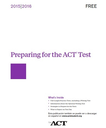 Preparing For The ACT 2015-2016