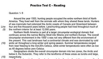 ACT Practice Test C Reading