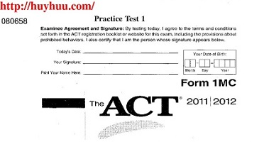 The ACT Official Guide Practice Test 1