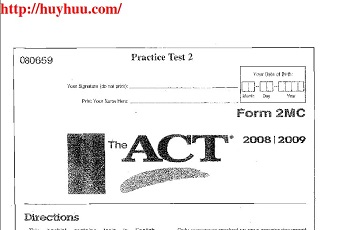 The ACT Official Guide Practice Test 2
