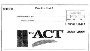 The ACT Official Guide Practice Test 3