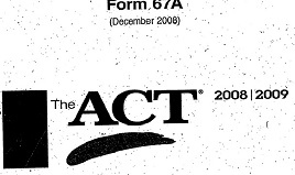 The ACT Official Guide Practice Test 5