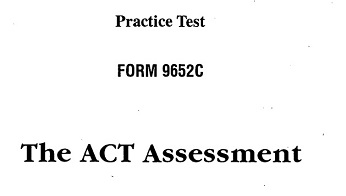 Real ACT Tests 1996 Form 52C