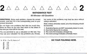 Real ACT Tests 1999 January Form 54D