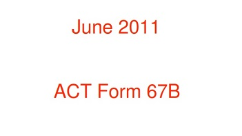 Real ACT Tests 2011 June Form 67B Asia