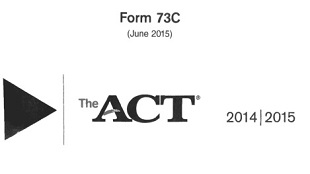 Real ACT Tests 2015 June Form 73C