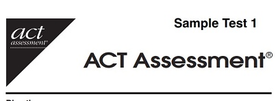 ACT Sample Practice Test 1