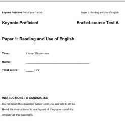 Keynote Proficient Eng of Course Test