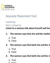 Keynote Proficient Placement Test