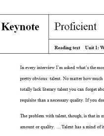 Keynote Proficient Reading Texts
