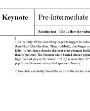 Keynote Pre-Intermediate Reading Texts