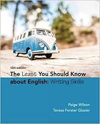 The Least You Should Know about English Writing Skills 13th Edition