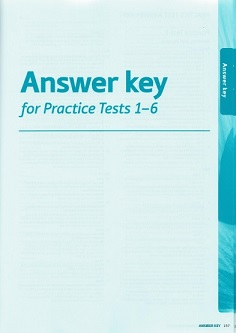 Key for Schools Exam Trainer A2 Answer Keys for Pracice Test 1-6
