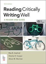 Reading Critically Writing Well 10th Edition