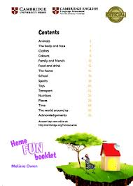 Home Fun Booklet 2 Answer Key