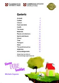 Home Fun Booklet 6 Answer Key