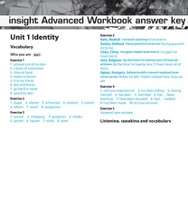 Insight Advanced Workbook Answer Keys