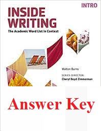 Inside Writing Intro Student Book Answer Keys