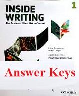 Inside Writing 1 Student Book Answer Keys