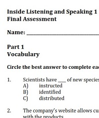 Inside Listening and Speaking 1 Tests