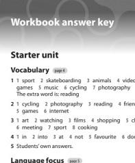 English Plus 1 Workbook Answer Keys 2nd Edition