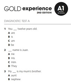 Gold Experience 2nd Edition A1 Assessment Package