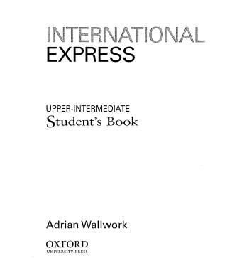 International Express Upper-Intermediate Student Book 2001