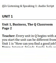 Q Skills for Success 2nd Edition Listening and Speaking 1 Audioscripts