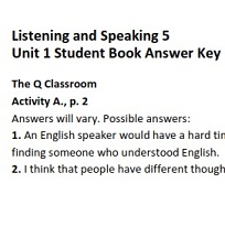 Q Skills for Success 2nd Edition Listening and Speaking 5 Student Book Answer Keys