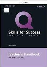 Q Skills for Success 3rd Edition Reading and Writing Intro Teacher Handbook