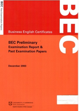 BEC Preliminary DECEMBER 2003 (Ebook+Audio)