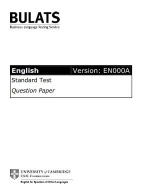 BULATS Sample Paper 2 Ebook (Version EN000A)