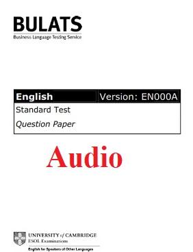 BULATS Sample Paper 2 Audio (Version EN000A)