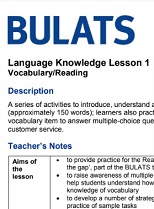 BULATS Language Knowledge Lesson 1