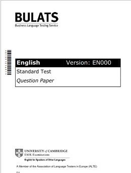 BULATS Sample Paper 1 Ebook (Version EN000)