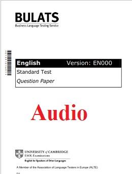 BULATS Sample Paper 1 Audio (Version EN000)