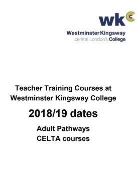 Adult Pathways CELTA Course - Teacher Training Course at Westminster Kingsway College