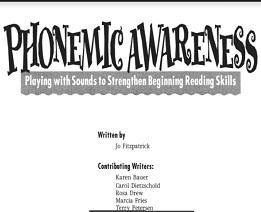 Phonemic Awareness Grade Level Pre K-2