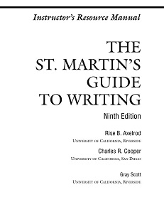 The St.Martins Guide to Writing 9th Edition Instructors Resource Manual