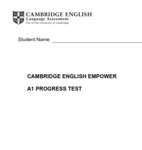 Empower A1 Starter Tests