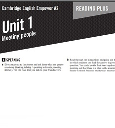 Empower A2 Elementary Reading Plus Worsheets