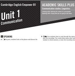 Empower B1 Pre-Intermediate Academic Worksheets