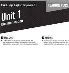 Empower B1 Pre-Intermediate Reading Plus