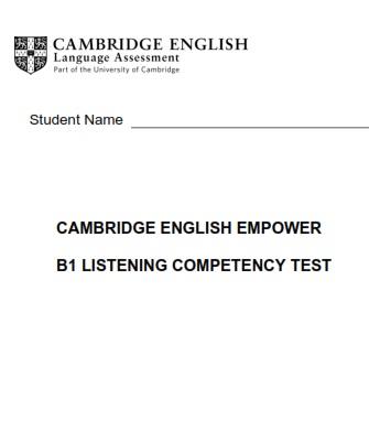 Empower B1 Pre-Intermediate Tests