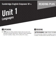 Empower B1 Plus Intermediate Reading Worksheets