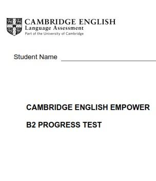 Empower B2 Upper-Intermediate Tests