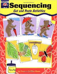 Evan Moor 124 - Sequencing Cut and Paste Activities Grades K-1