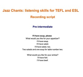 Jazz Chants Listening Skills for TEFL and ES by Miles Cravens - Macmillan Publishers