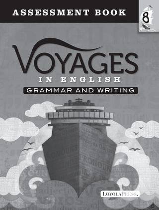 Voyages in English 2018 Grade 8 Assessment Book Sample Pages
